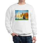 Sailboats / Flat Coated Retri Sweatshirt