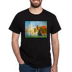 Sailboats / Flat Coated Retri Dark T-Shirt