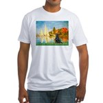 Sailboats / Flat Coated Retri Fitted T-Shirt