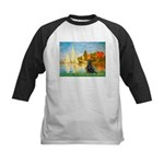Sailboats / Flat Coated Retri Kids Baseball Jersey