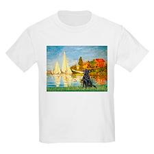Sailboats / Flat Coated Retri T-Shirt