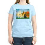Sailboats / Flat Coated Retri Women's Light T-Shir