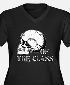 Head of The Class Women's Plus Size V-Neck Dark T-