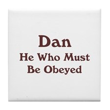 Personalized Dan Tile Coaster