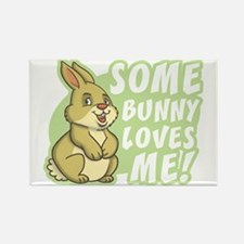 Some Bunny Loves Me Rectangle Magnet