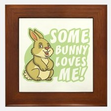 Some Bunny Loves Me Framed Tile