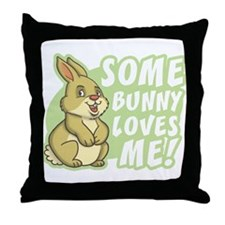 Some Bunny Loves Me Throw Pillow