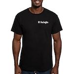 Small Horizontal Logo Men's Fitted T-Shirt (dark)