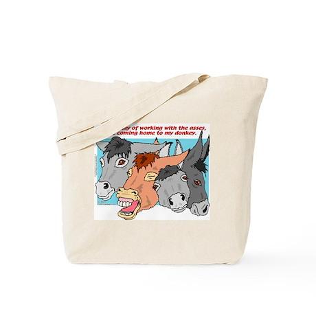 Donkey Work Tote Bag