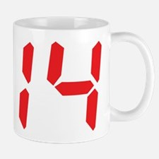 14 fourteen red alarm clock n Mug