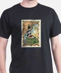 Lighthouse Cross-Stitch T-Shirt