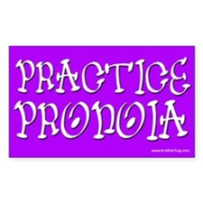 Practice Pronoia Rectangle Decal
