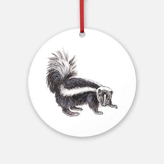 Striped Skunk Ornament (Round)