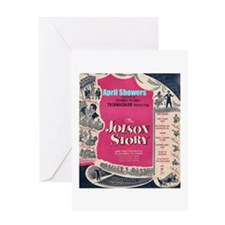 """""""The Jolson Story"""" Greeting Card"""