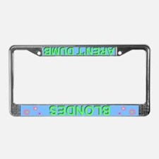 'Blondes Aren't Dumb' Blue License Plate Frame