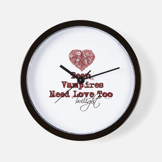 Teen Vampires Need Love Too Wall Clock