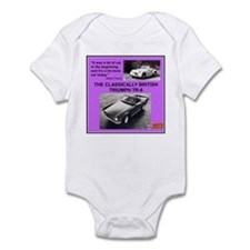 """1973 Triumph TR6 Ad"" Infant Bodysuit"
