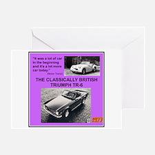 """1973 Triumph TR6 Ad"" Greeting Card"