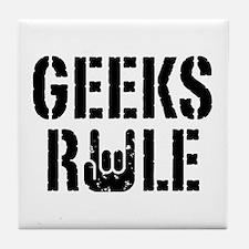 Geeks Rule Tile Coaster