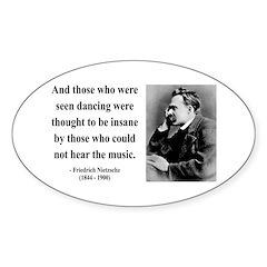 Nietzsche 38 Oval Decal