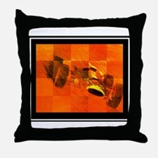 """Vintage Indy"" Throw Pillow"