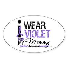 Hodgkin's Disease Mommy Oval Sticker (10 pk)