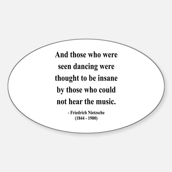 Nietzsche 38 Oval Decal
