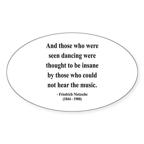 Nietzsche 38 Oval Sticker