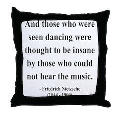 Nietzsche 38 Throw Pillow