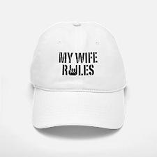My Wife Rules Baseball Baseball Cap