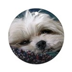 Lhasa Apso Rescue Ornament (Round)