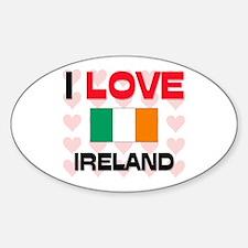 I Love Ireland Oval Decal