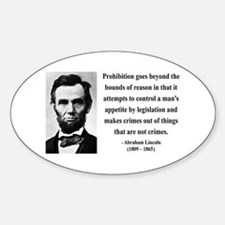 Abraham Lincoln 35 Oval Decal