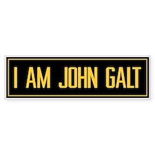 """I AM JOHN GALT"" Bumper Bumper Sticker"