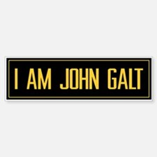 """I AM JOHN GALT"" Bumper Car Car Sticker"