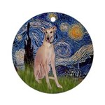 Starry Night Greyhound Ornament (Round)