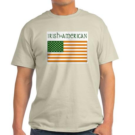 Irish-American Flag Ash Grey T-Shirt