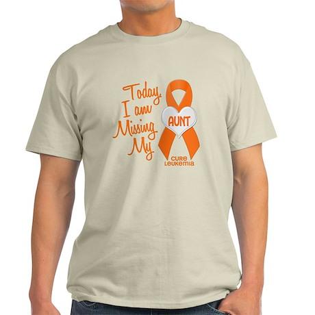 Missing My Aunt 1 LEUKEMIA Light T-Shirt