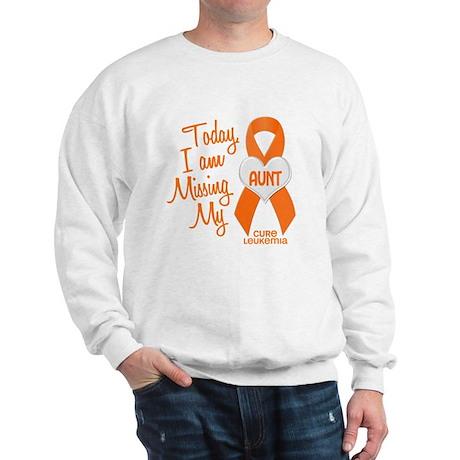 Missing My Aunt 1 LEUKEMIA Sweatshirt