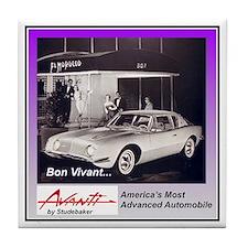 """""""1962 Avanti Ad"""" Tile Coaster"""