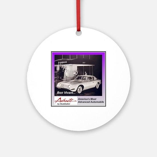 """""""1962 Avanti Ad"""" Ornament (Round)"""