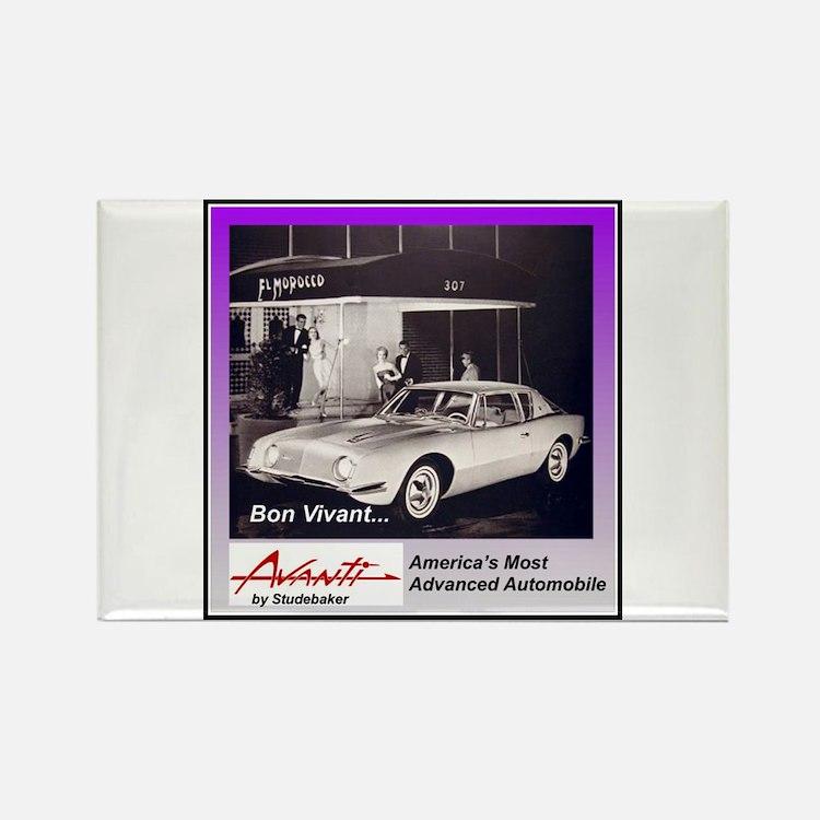 """1962 Avanti Ad"" Rectangle Magnet"