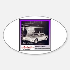 """1962 Avanti Ad"" Oval Bumper Stickers"
