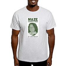 Maze Hunger Strike 25th Anniv Ash Grey T-Shirt