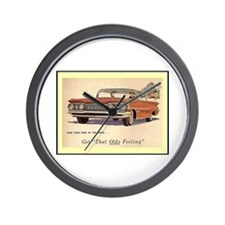 """""""1959 Olds Ad"""" Wall Clock"""