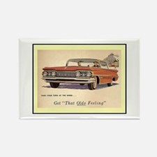 """1959 Olds Ad"" Rectangle Magnet"