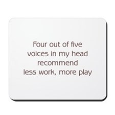 Recommend Less Work Mousepad