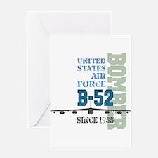 B-52 Bomber Military Aircraft Greeting Card