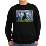 Lilies / Flat Coated Retrieve Sweatshirt (dark)