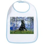 Lilies / Flat Coated Retrieve Bib